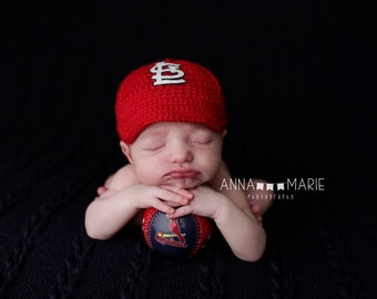 Newborn Baby Baseball Cap, Hat, St Louis Cardinals , Custom Made to Order