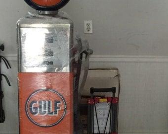 Vintage Restored Gulf Gas Pump