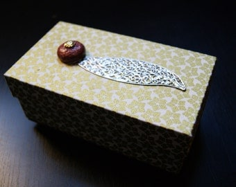 Elegant jewelry box - to Treasury - Gifts-Gift birthday St Valentin - cartonnage - recycling - lovely jewelry box