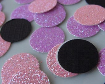 Pink and Purple Glitter Confetti- 150ct- Pink and Purple Wedding and Bridal Confetti/Table Decor/Pink Confetti/Purple Confetti