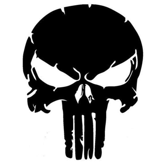 Vinyl Decal Sticker - Punisher Skull Decal for Windows, Cars, Laptops, Macbook, Yeti, Coolers, Mugs etc
