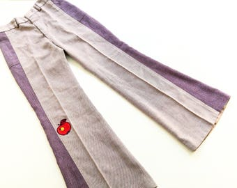 FlaRed leg size 10Y retRo 70s VintAge troUserS oldSchOol 140/146 SchlaGhoSe hipSter