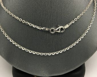 925 Sterling Silver Rhodium Cable Chain ~1.80mm
