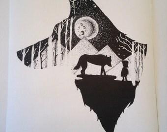 Wolf Print A5