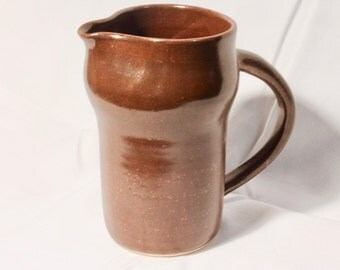 Brown and Copper Stoneware Pitcher