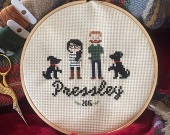Custom Cross Stitch Portraits