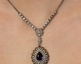 Authentic Ottoman style sterling silver necklace ZB6012