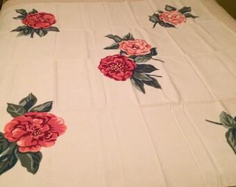 Vintage Mid Century 1950's Tablecloth