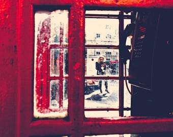 London photography, street photography, Red phone box, fine art photography, red, england