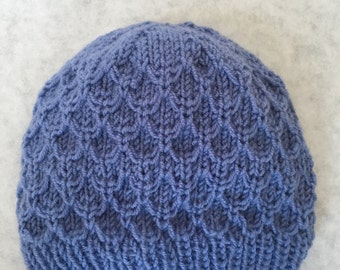Wool Newborn Honeycomb Hat