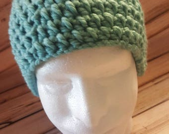 Crocheted adult winter hat