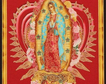 Virgin heart red Virgin of Guadalupe Panel Our lady of Guadalupe Latinoamerican Virgin panel network Mexican style Mexican style
