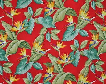 Paradise Hawaii red hawaiian fabric fabric flowers beach surf beach aloha flowers tiki cotton fabric flowers honolulu