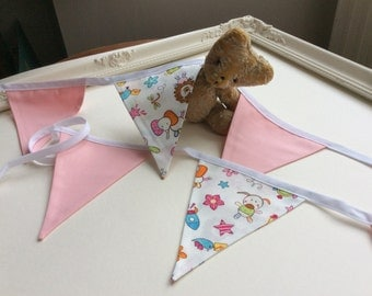 Baby Pink Nursery Bunting in Bag