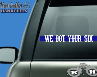 Car decals family, police officer decal, police girlfriend, police support decal, police officer gift, police officer gifts, thin blue line