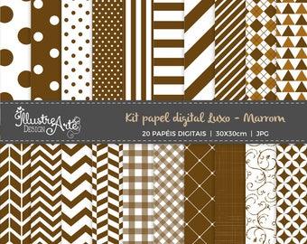 50% OFF - Digital Paper Basic Brown
