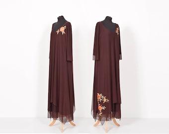 Plus size dress, plus-size dress, dress, maxi dress, maxi, long dress, aubergine dress, eggplant dress, purple dress, flower dress, purple.