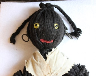 Vintage Black Americana Yarn Doll from the 1960s