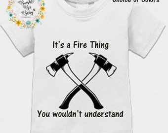 Thin Red Line, Firefighter, Fire, Fire Babies, Infant, Baby Boy, Boy, Newborn, Bodysuit, T-Shirt, Birthday, Baby, Shower Gift