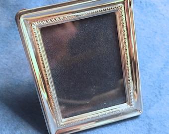 "Vintage Miniature Sterling Silver Picture Frame - ""Sorolla"" - Rectangular Fluted"