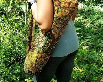 Yoga Bag - Gift for Her - African Print Yoga Bag - Exercise Bag