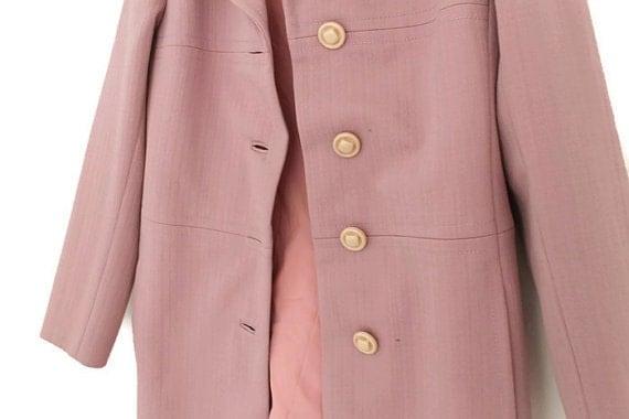 SALE Spring Pink Coat Vintage Salmon Pink Coat Trench by BoTikken