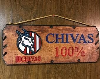 Chivas Wood Sign