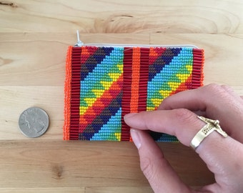 Handmade Colorful Beaded Coin Purse