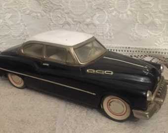 Vintage Large Tin/Metal Toy Car with Friction