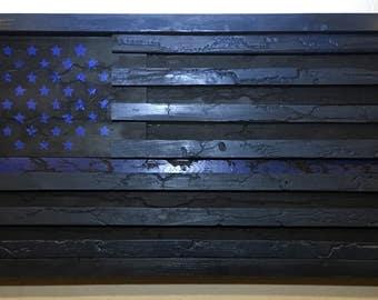 Wooden American Flag Wall Art wood american flag fractal burning flag art flag decor