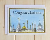 LDS Temple Greeting Card - Congratulations