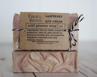 Raspberry Cream - cold process soap