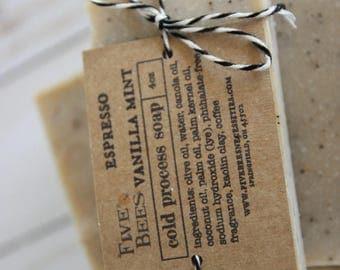 Espresso Vanilla Mint - cold process soap
