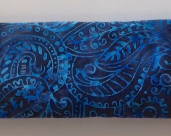 Lavender Eye Pillow Indigo Organic Flax Seed Yoga Accessories Gifts for Her