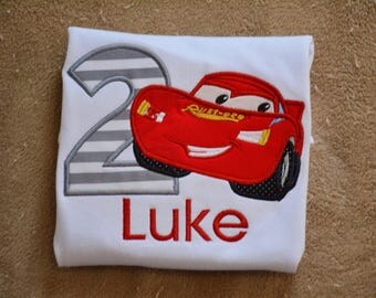 Cars Birthday Shirt ~ Lightning Mcqueen  ~ Cars Birthday Party ~ Boutique Personalized Name Shirt
