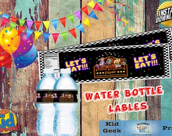 Five Nights at Freddy's Water Bottle Labels!