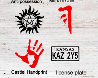 Mark Of Cain Anti-Possession Tattoo Castiel's