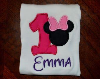 Minnie Mouse Pink Birthday Shirt