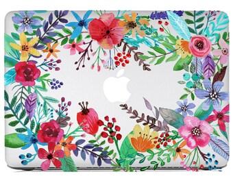 Macbook Skin Flower Power - full set