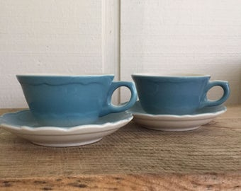 Set of two Syracuse China tea cups