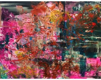 Abstract Painting, 25% OFF SALE with coupon code JULYSPECIAL25 at checkout: Grip IV