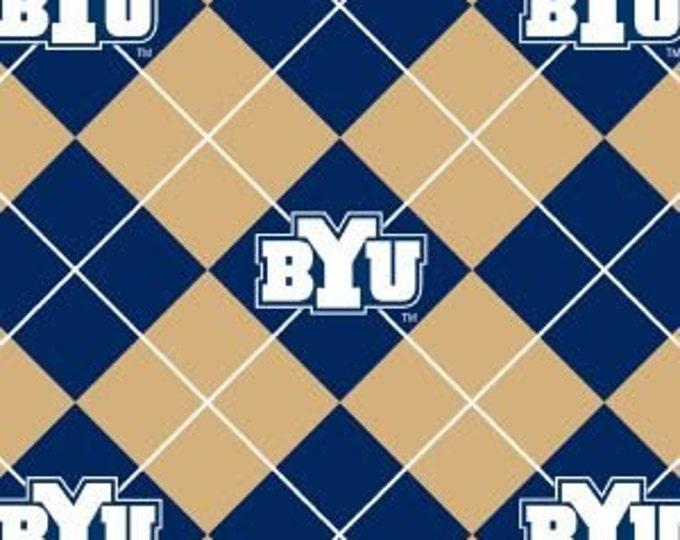 "Brigham Young University FLEECE by Sykle - 60"" wide by the yard - BYU-095"