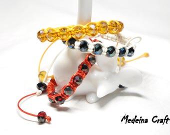 Multi Colour Single Row Braided Bracelets