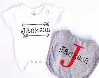 Personalized Onesie & Bib Set