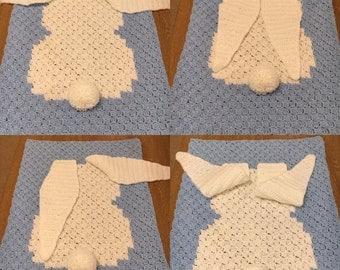 Crocheted Bunny Blanket