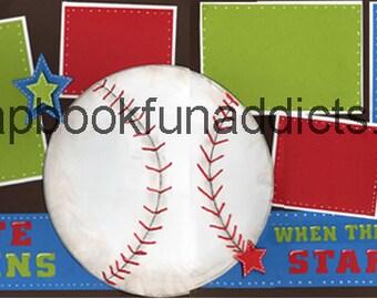 Pre-cut 12x12 Baseball page kit