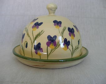 Butter dish Hand made butter or cheese dome. Butter pot. Viola butter dome. Viola cheese dome.