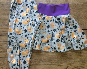 Bronze fox children's harem pants or donut skirt