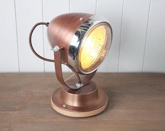 Vintage Style Vespa Table/Desk Lamp on Wooden Base
