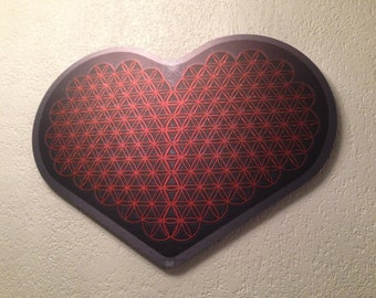 Flower of life/Power of love/Sacred geometry wall art